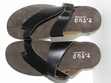 NEW NWT Z.SUO Mens Brown Leather Sandals Sz 10W 10 W ZS8392 Green Rubber Seal