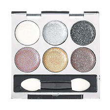 Claire's Girls and Womens 6 Piece Metallic Glitter Eyeshadow Palette