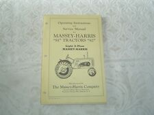 Massey Harris 81 82 tractor operator's instructions and service manual