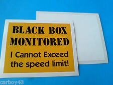 BLACK BOX MONITORED Inside Car Window Insurance Warning Sticker Decal 100mm