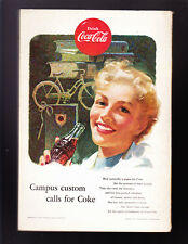 National Geographic October 1953 COCA-COLA with 10 color Map of KOREA & China