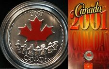 2001 Canada Colored 25 C Canada Day Spirit  Booklet