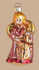 Christmas Angel Glass Ornament Playing Carols with Cello