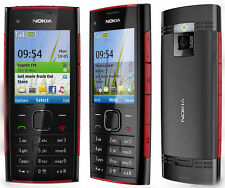 Nokia X2-00 Red on Black GSM Unlocked Cellphone free shipping