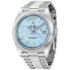 Rolex Day Date Automatic Ice Blue Dial Platinum Mens Watch 228206IBLSP