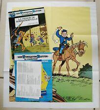 Tuniques bleues La Prison de Robertsonville LAMBIL CAUVIN éd Hachette + 1 poster