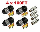 Premium Quality 4x100ft Video Power BNC Cable for Swann CCTV Security Camera