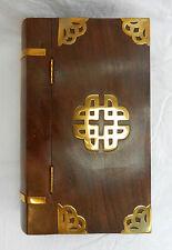 Celtic DESIGN in ottone LIBRO RILEGATO IN LEGNO STILE BOX-NUOVO CON SCATOLA