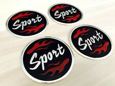 Aufkleber Embleme für Radkappen 4 x 60 mm für SPORT schwarz rot silber neu