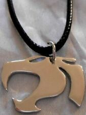 "THUNDERCATS STAINLESS STEEL 1"" PENDANT ON 16"" - 18"" ADJUSTABLE LEATHER CORD"