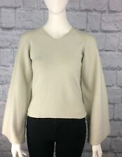 Giorgio Armani Womens Size 42 Cashmere/Wool/Silk V-neck Wide Sleeve SOFT Sweater