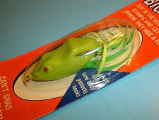 Snag Proof SK Frog Chartreuse Soft Body Topwater Weedless Fishing Lure - NOS