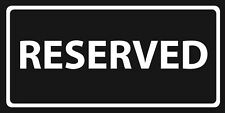 "Reserved Black & White Velour Beach Towel 30""x60"""