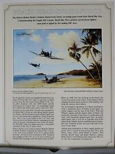 Beach Head Strike Force F4U Corsair USN USMC Robert Taylor Aviation Art Flyer