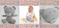 Set of 3 DMC Tiny Tatty Teddy Crochet Patterns, Cute Character, Blanket, Cushion