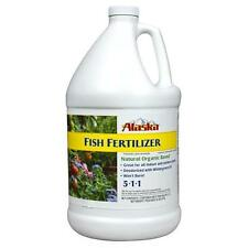 Alaska Fish Fertilizer 1 Gallon 128oz ounce - OMRI organic emulsion nutrient