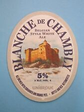 Beer Brewery COASTER    UNIBROUE Blanche de Chambly White Ale    Chambly, QUEBEC