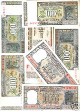 100 Rupees Republic India Bank notes Signature Set @ Uncirculated Condition