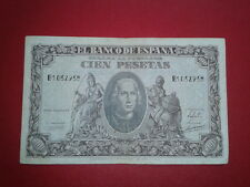 SPAIN P-118a BILLETE 100 PESETAS 1940 CRISTOBAL COLON MBC SERIE B 1032958