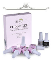 Any 6 Colors Gelpolish Soak Off Gel Nail Polish Top Base Manicure Kit Gift Set