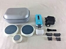 NONO PRO Facial Body Hair Removal Device Blue Metallic With Case Accessories