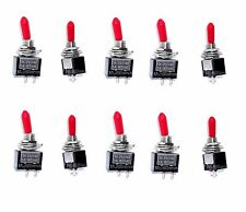 10 ON/OFF SPST Red Handle Mini Toggle Switches