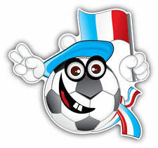 "France Soccer Football Fan Ball Welcome Flag Car Bumper Sticker Decal 5"" x 5"""