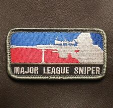 MAJOR LEAGUE SNIPER USA ARMY MORALE MILITARY TACTICAL US FULL COLOR HOOK  PATCH
