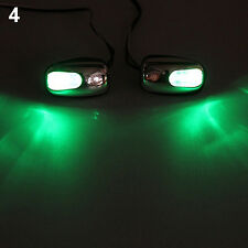 New Vogue Auto LED Light Windshield Jet Spray Nozzle Wiper Washer Green Lamp