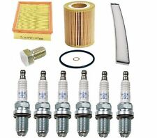 BMW E46 E39 OEM Tune-up Kit NGK Spark Plugs Mann Oil+Air+Cabin Filters Mag Drain
