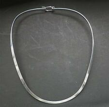 "4mm 18"" 925 Sterling Silver U Shape W/Clasp  Choke/Collar/Necklace/Wire Jewelry"