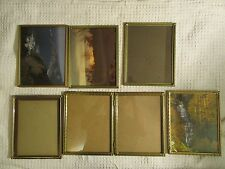 Vintage Lot of 6 Metal Easel Photo Frames  Ornate Corners to fit 8 x 10 Photos