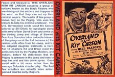 OVERLAND WITH KIT CARSON Cliffhanger Chapter Serial