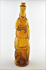 Antique 1868 Brown's Celebrated Indian Queen Herb Bitters Glass Bottle