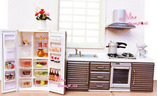 1:12 Dollhouse Miniature Modern Kitchen Furniture Stove/Oven/Frige+Food WD34B