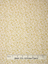 Christmas Fabric - Ornament Toss Cream Beige RJR 1992 Holiday Accents - Yard
