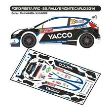 DECALS 1/43 FORD FIESTA RRC #35 - MAURIN - MONTE CARLO 2014 - MF-ZONE D43277