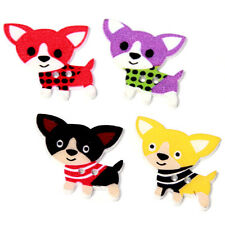 250pcs Mixed Colorful Cartoon Dogs Patterns Wooden Buttons Two Holes Wholesale C