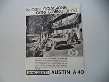 advertising Pubblicità 1961 INNOCENTI AUSTIN A40 A 40