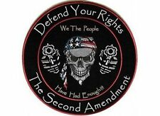 Defend Your Rights We The People 2nd Amendment GUN NRA Biker Back Patch LRG-0550