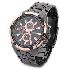 New Men's Stylish Business Waterproof Stainless Steel Analog Quartz Wrist Watch