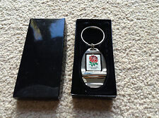 England Rugby RFU Crest Chrome Bottle Opener Keyring - Ideal Gift