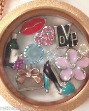 ❤️AUTHENTIC ORIGAMI OWL ~ LOCKET CHAIN CHARMS & DANGLES ~ SHE'S A LADY ~ CHIC❤️
