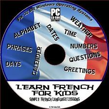FRENCH FOR KIDS EASY CHILDRENS INTERACTIVE EDUCATIONAL LANGUAGE LESSONS PCCD NEW