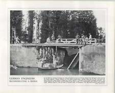 WW1 French Cavalry Retreat Amiens German Engineers Rebuild Bridge La Fere