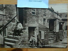 CORNWALL POSTCARD:ST IVES BACK ROAD FISHERMAN'S QUARTERS FRITH  Children People