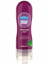 Durex 2in1 Massage Lotion 200ml Lubricant Oil Gel Lube Aloe Vera Enhance Sex
