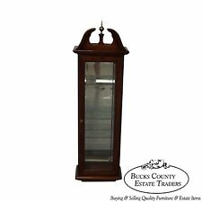 Solid Cherry Chippendale Style Hanging Curio Display Cabinet