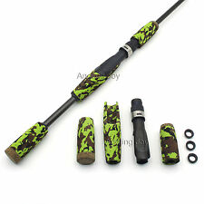 Rod Building EVA Camouflage Spinning Fishing Rod Handle Grip and IPS Reel Seat
