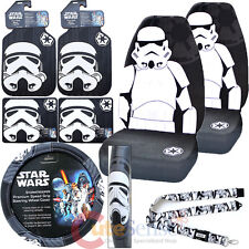 Star Wars Storm Trooper Car Seat Covers Set Auto Accessories Complete 8pc Set